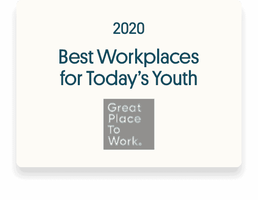 Best Workplaces for Today's Youth 2020